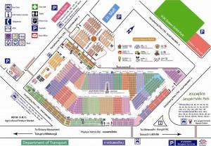チャトゥチャック・ウィークエンドマーケットの地図