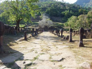 ラオス チャンパサック県のワット・プー