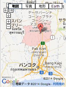 タイの地図 アユタヤ