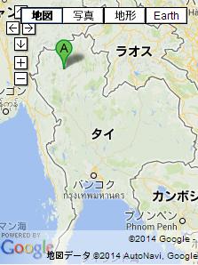 タイの地図 チェンマイ