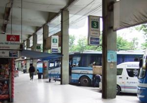 タイのバス乗り場