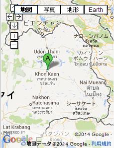 タイの地図 東北地方