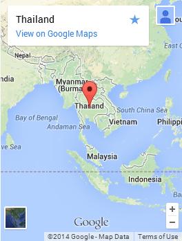 タイの地図 近隣諸国
