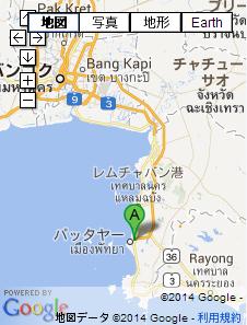 タイの地図 パタヤ