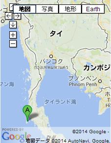 タイの地図 プーケット