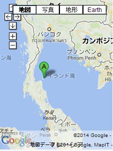 タイの地図 サムイ島