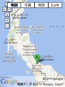 タイの地図 南部