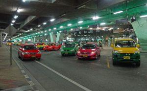 スワンナプーム国際空港のタクシー