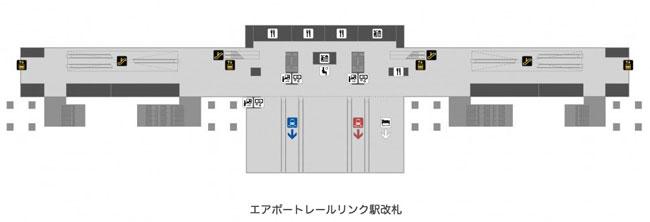 スワンナプーム国際空港地下階のマップ