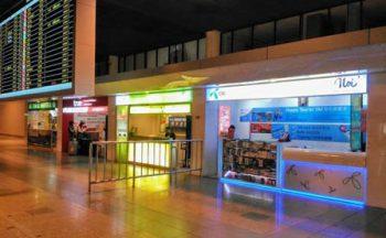 ドンムアン空港国際線到着フロアー1階のSIMカード売場