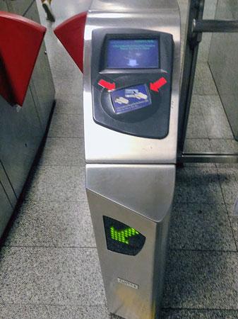 バンコクMRT地下鉄改札口
